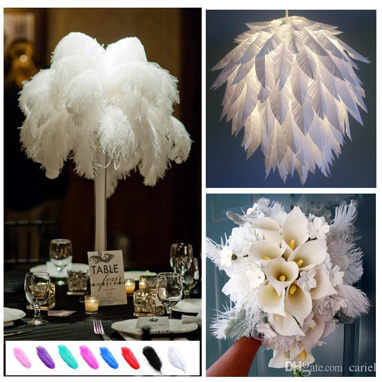 wholesale Ostrich Feather Plumes OSTRICH FEATHER black for Wedding centerpiece wedding decor coetumes party decor z134