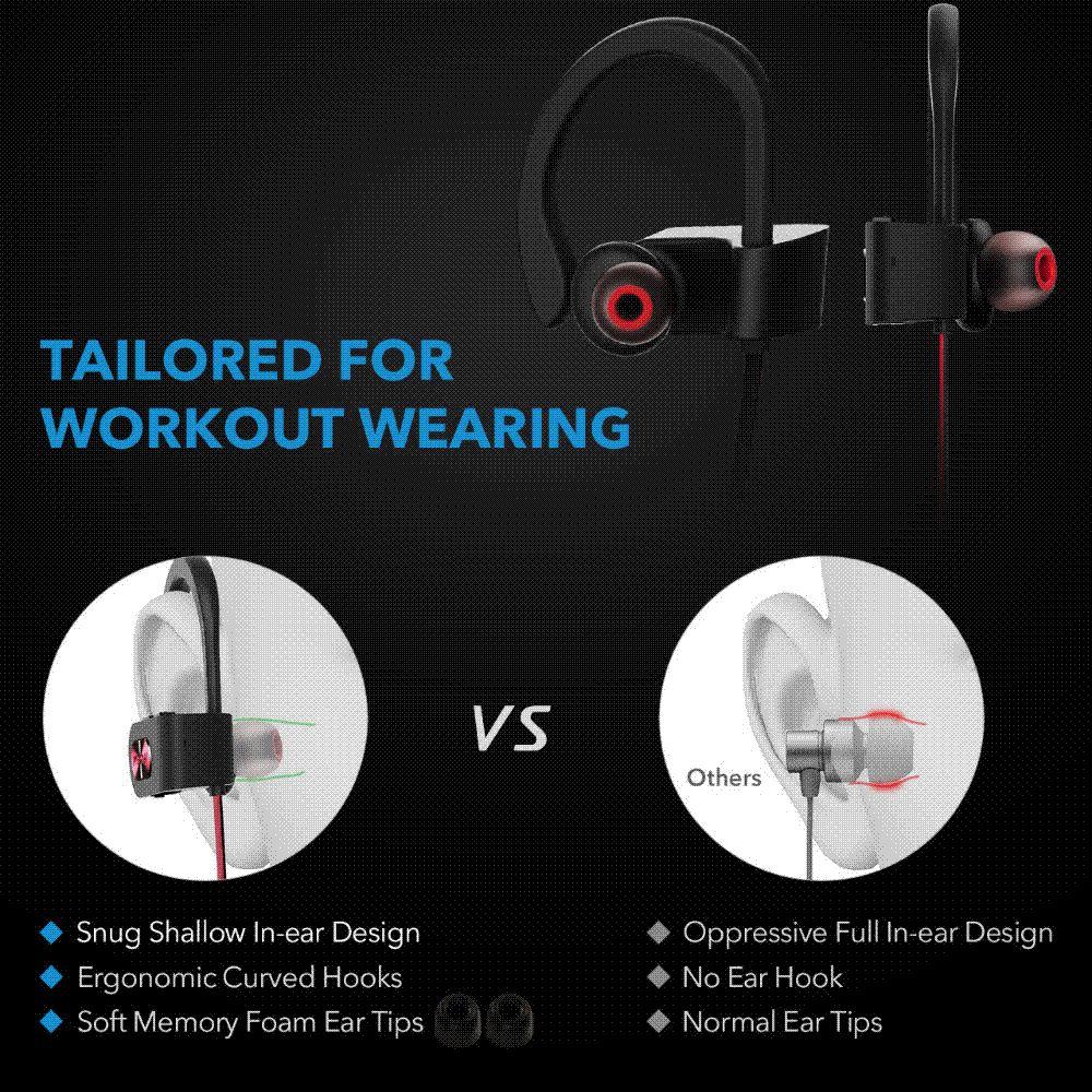 Acquista Nuovo Mpow IPX7 Cuffie Bluetooth Impermeabile Cancellazione Del  Rumore Cuffie Wireless Bluetooth 4.1 Auricolari Sportivi Auricolari Con  Microfono A ... e739ececb12f
