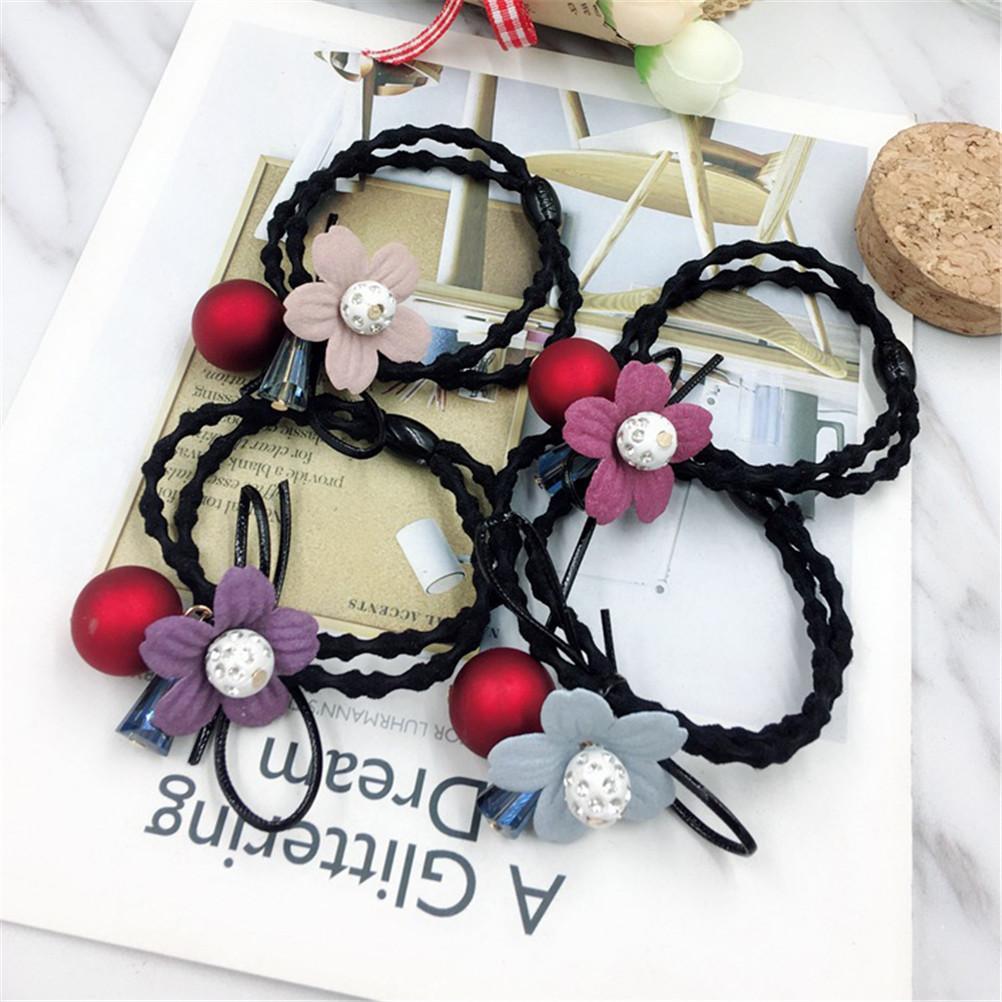 Korea Handmade Pearl Rubber Hair Band Hair Accessories Headwear Girls Headband For Women Hair Bows 5 Girl's Accessories