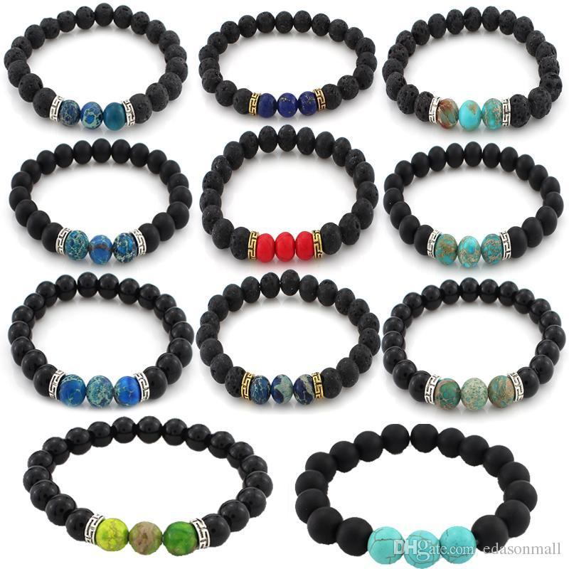 Fashion Jewelry Lava Stones Bracelet Chakra Lava Stone With 2 Essential Oils Natural & Alternative Remedies