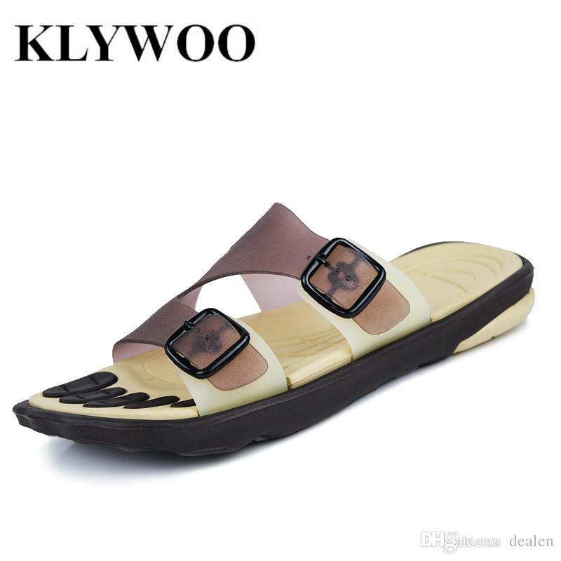 fdc9d10c641a Wholesale-Sandals Men Fashion New Brand Buckle Mens Flip Flop ...