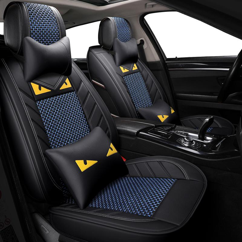 Front Back Row Seat Covers Universal Automobiles Car Fit MINI MITSUBISHI Mustang Accessories Pads Cushions For