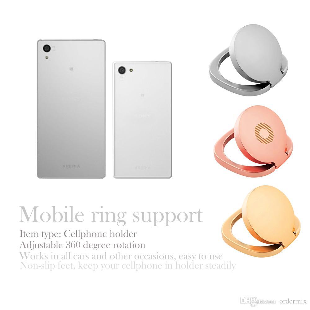 1 Unids Universal Celular Soporte para Teléfono Móvil 360 Anillo de Dedo Magnético Soporte de Escritorio Titular Fit Para Soporte de Coche Soporte de Teléfono de Lujo