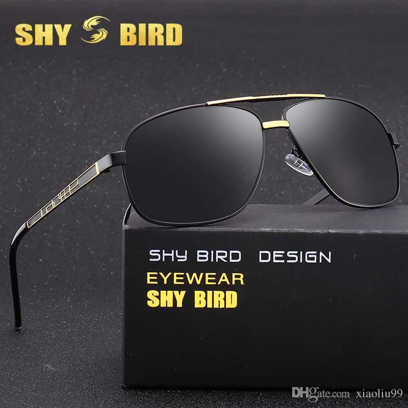 e7c6114b9382 Shybird New Men S Sunglasses Polarized Driving Sun Glasses Retro Fashion  Brand Glasses Metal Frame Sports Eyewear S8916 Factory Direct Sales Smith  ...