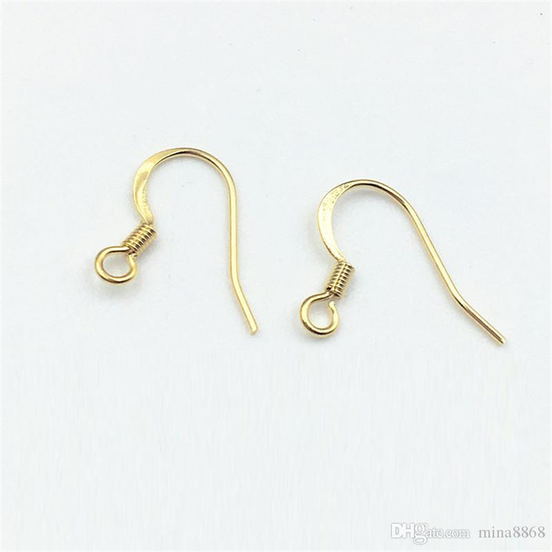 stainless steel Earring Hook Ear Hook Clasp With Bead Charms Jewelry Findings for DIY Fashion Hot