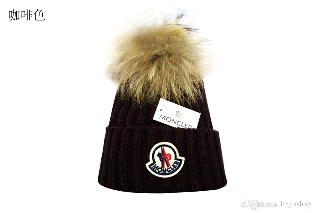 3daebf66c30f Embroidery Winter Hat Men Cap Women s Warm Casual Knitted Hat Female ...