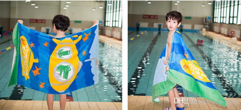Soft Bath Towel 100% Cotton Cartoon Printed Kids Adult Bath Towel Fast Drying Beach Spa Bathrobes Towel 160*80cm