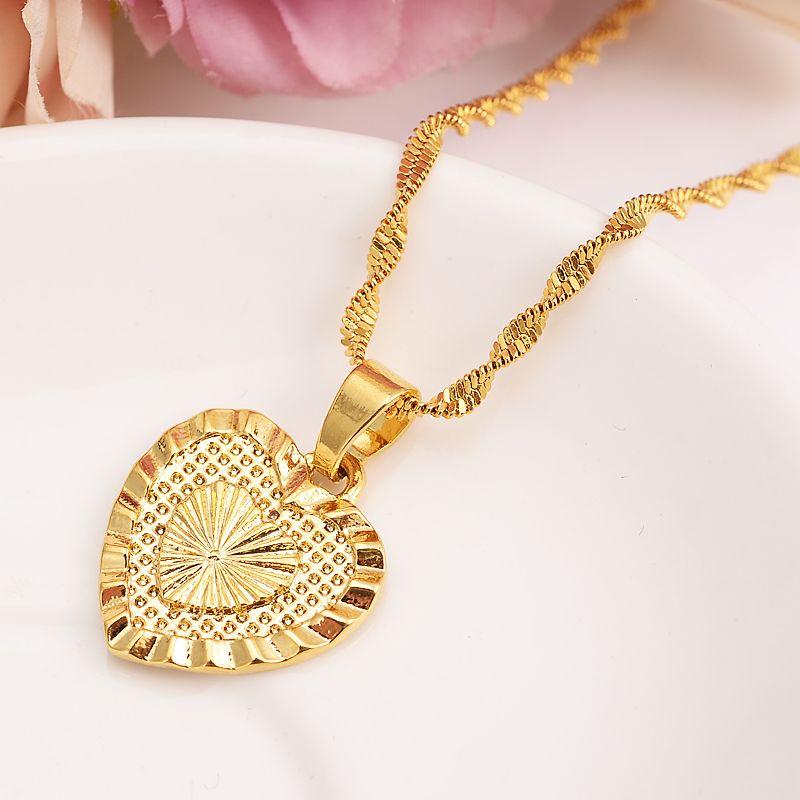 1f5ebe6d4502 Африка Дубай Индия сердце shapependnat ожерелья золотой цвет кулон цепь  золотой цвет хип-хоп ювелирные изделия аксессуары лучший подарок