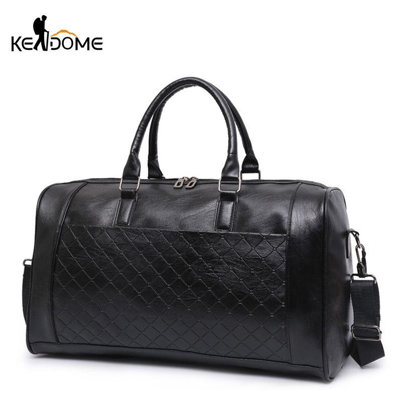PU Leather Gym Bag Large Training Sports Bag For Men Women Travel ... 5c697a036b