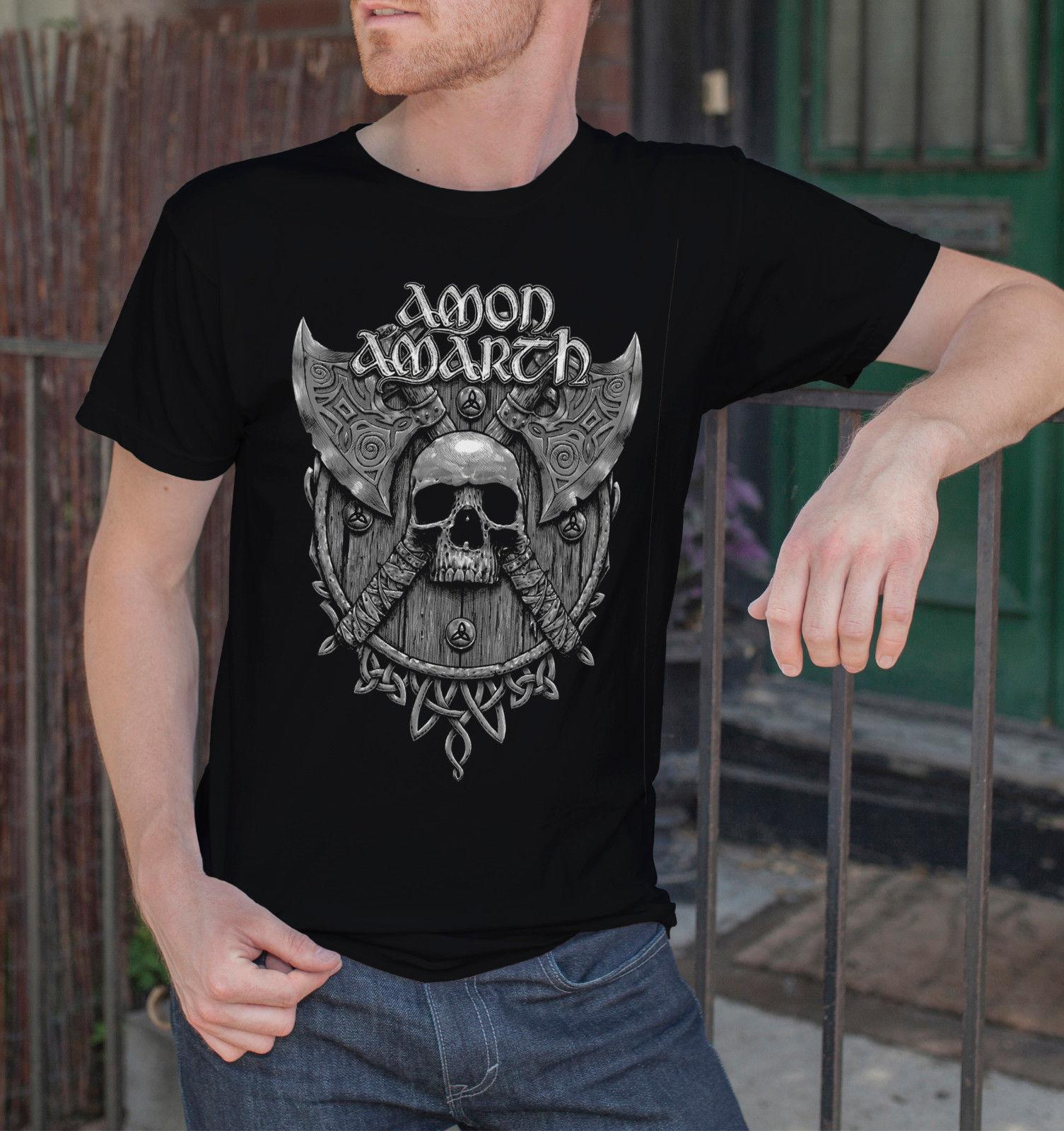 Amon Amarth Men Black T Shirt Death Metal Band Tee Shirt Vikings Swedish  Metal 5 Different Colours High Quality Funny Political T Shirts Tee Designs  From ...