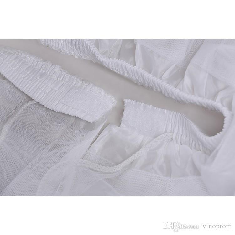Sottoveste bianca del pettirosso delle ragazze di Tulle senza la breve underskirt del cerchio il vestito da cerimonia nuziale della sfera 2018 nuovo arrivo