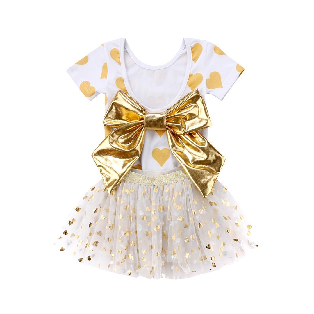 8b6d414c4 2019 Toddler Kids Baby Girls Romper+Tutu Skirts Party Dress Outfits ...