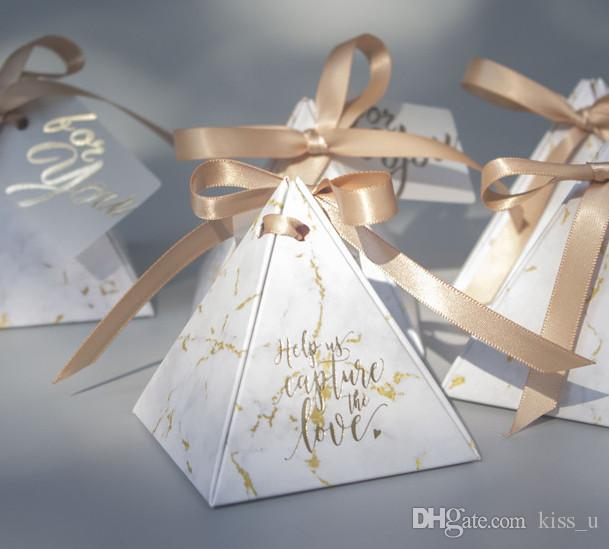 Triangular Pyramid Gift Box Wedding Favors And Gifts Candy Box