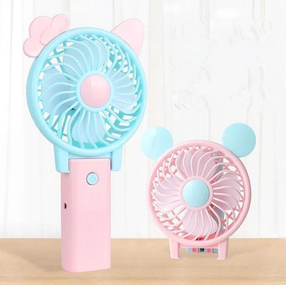 Hot Sale Creative Mobile Phone Bracket Cartoon Mini Spray Fan Portable Fan Outdoor Charging Small Fan Buy Now Household Appliances Fans