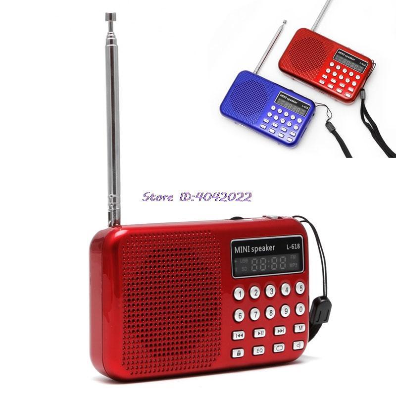 Das Beste Mini Tragbare Radio Handheld Digital Fm Usb Tf Mp3 Player Lautsprecher Wiederaufladbare Eingebauten Lautsprecher Mit Lcd Digitale Uhr Unterhaltungselektronik