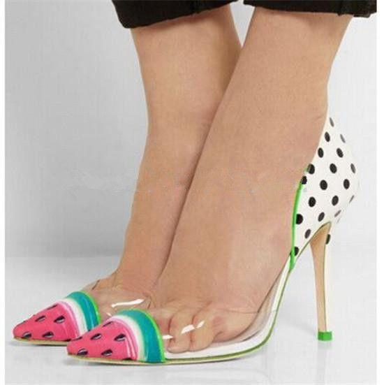 Sophia Webster zapatos de tacón alto para mujer zapatos de boda de mujer de color sandía lindo de mujer bombas de cuero de PVC zapatos de mujer sandalias Zapatos Mujer