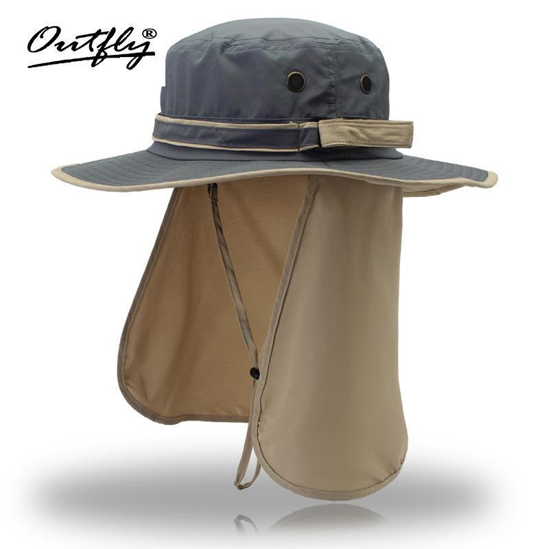 e5a97fa77 Wide Brim Men Women Bucket Hat With String Waterproof Outdoor Fishing  Hunting Hat Fisherman Bone Caps Mountain Climbing Sun Hat