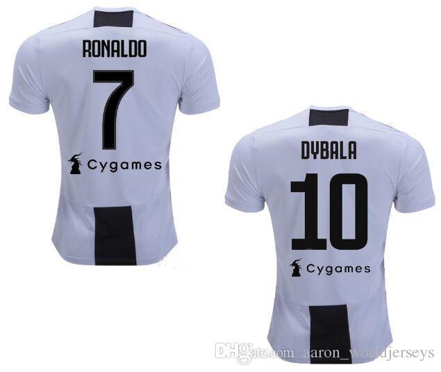 12d25fddc4 Camiseta European Size 2XL 2018 2019 Maglie Juv Scudetto Coppa Italia Serie  a Patch Extra Large XXL Dybala Cristiano Ronaldo Soccer Jerseys 2xl Soccer  ...