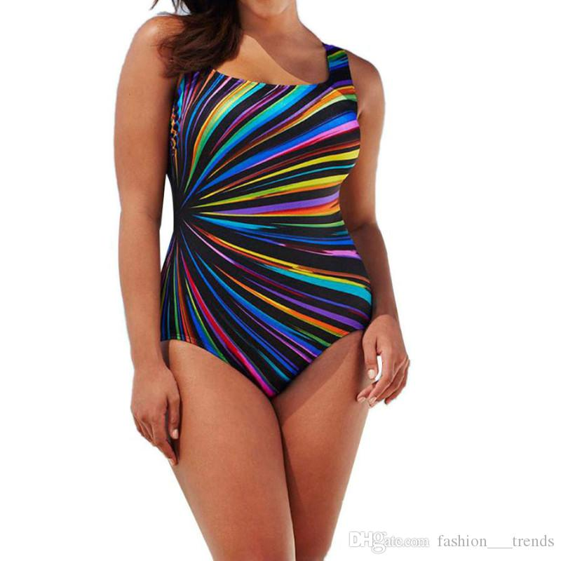 Hot Sale Plus Size L 5xl One Piece Womens Swimming Costume Padded