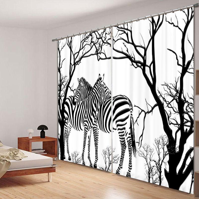 Zebra 3d Digital Printing Stereo Soundproof Curtain High Precision