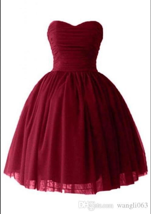 Short Puffy Homecoming Prom Dresses Sexy Victoria Burgundy Tulle Ball Gown Sweetheart Corset Cocktail Party Gowns