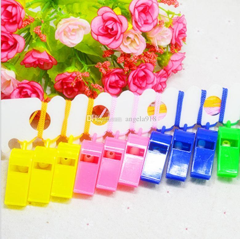 Boutique Smile Fußball Pfeife Horn mit Lanyard Cheerleading Cheer Requisiten floral bedruckte Pfeife Kindergarten Geschenke H020
