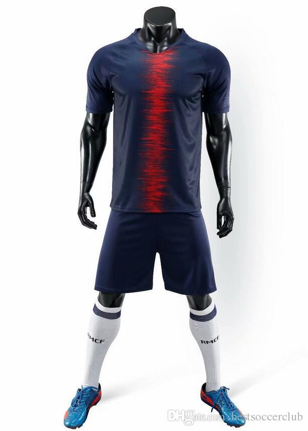 Thailand Maillots Soccer Jersey 2018 2019 ADULT Kits Paris MBAPPE NEYMAR JR  Jersey 18 19 Survetement Football Kit Champions Shirt Men ADULT Kits NEYMAR  JR ... 2c8888d38
