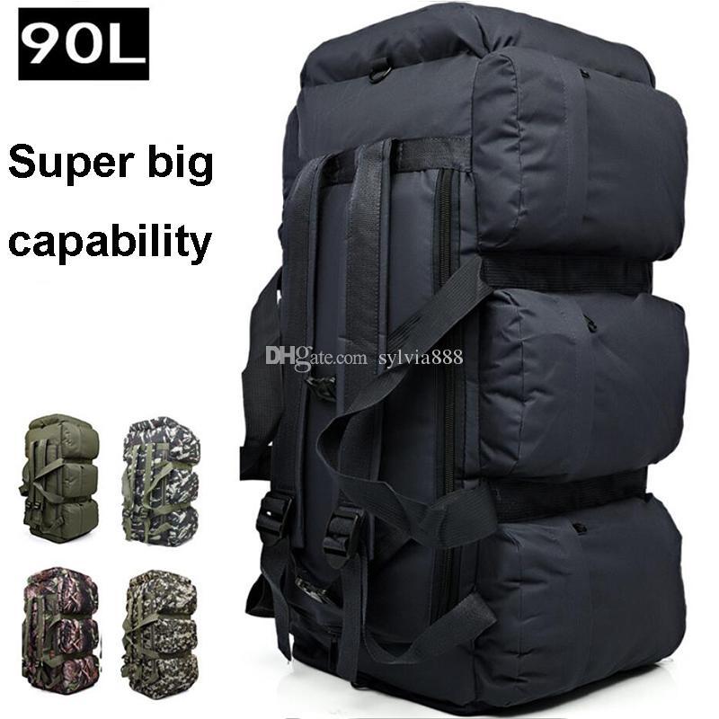 27117aa637f5 Super Large 90L Waterproof Climbing Hiking Backpack Bag Camping  Mountaineering Backpack Sport Outdoor Bike Bag Sport Travel Bag Toiletry  Bags Best Gym Bags ...