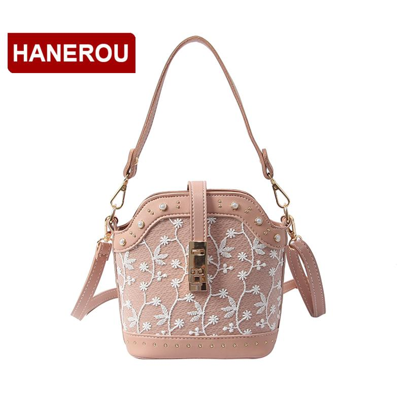 a8e5a01137 Wholesale PU Leather Messenger Bag Women Lace Emboridery Patchwork Shoulder  Bag Women Rivet Crossbody Bag Small Handbag For Girls Personalized Bags  Fashion ...