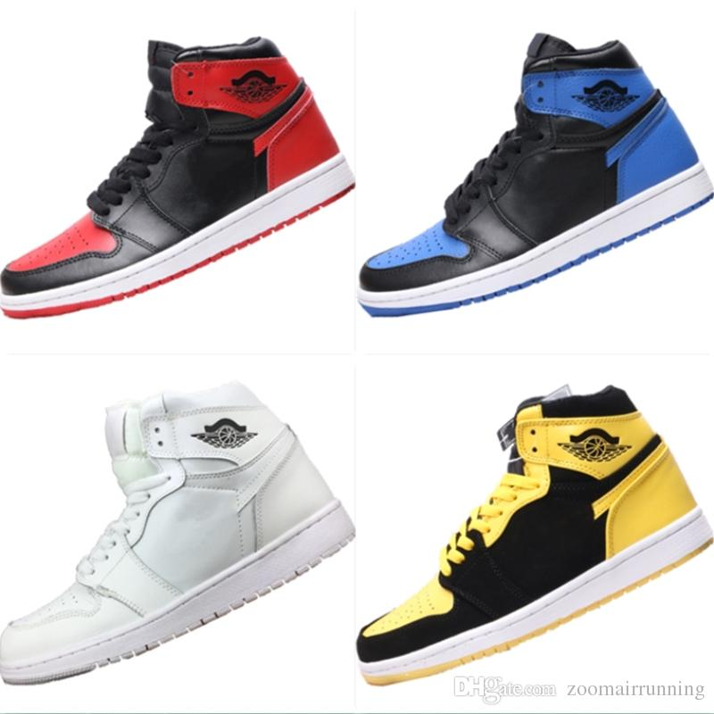 401089cc0d1a 2018 New 1s Bred Leather High Top Casual Basketball Boots Originals AJ1  Bred Athletic Shoes 1OG Bred Sports Shoes For Kid Sports Shoes Boys From ...