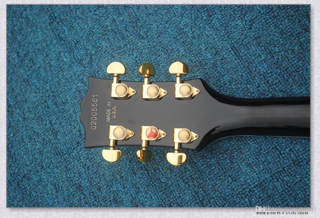Черешня Custom Shop Электрогитара # Ebony Накладка палисандр Накладка выбрать #China Guitar Factory Outlet