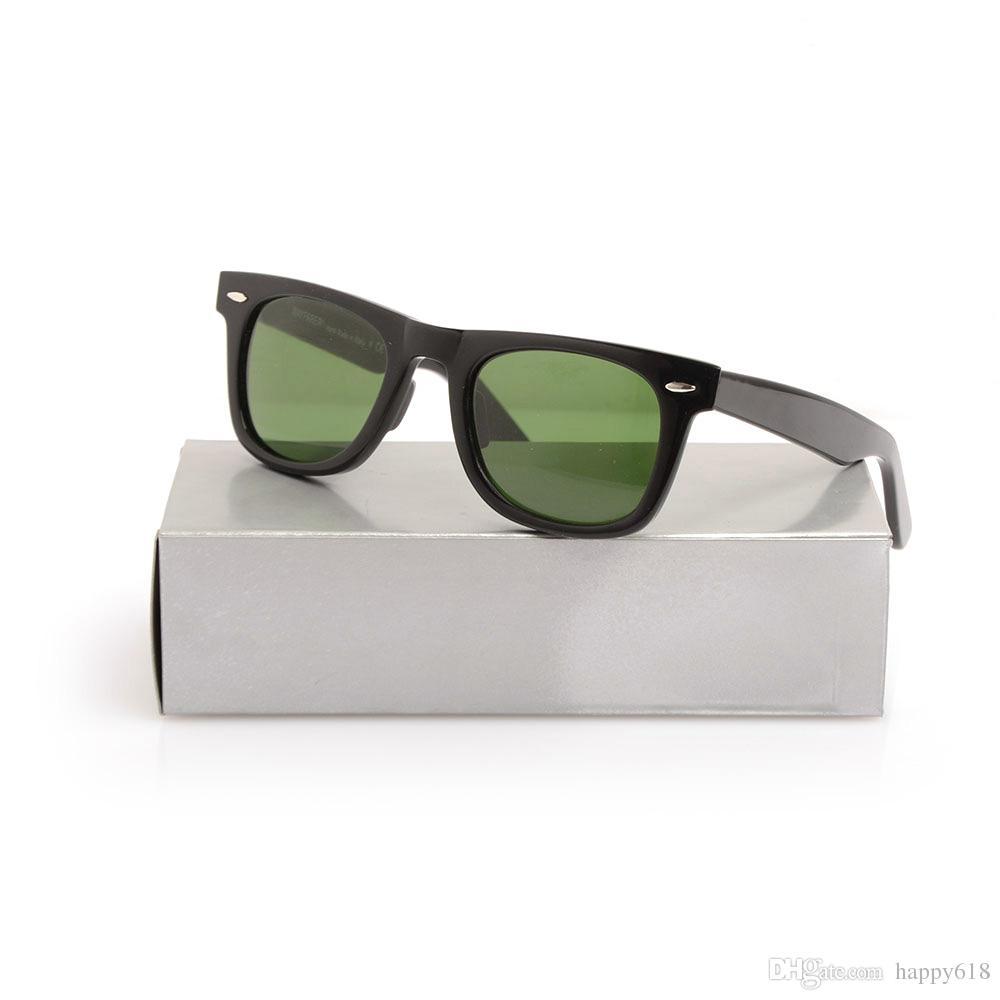 2140 black Sun glasses beach sunglasses Green Lens glasses High Quality Plank black Sunglasses glass Lens Designer glasses box
