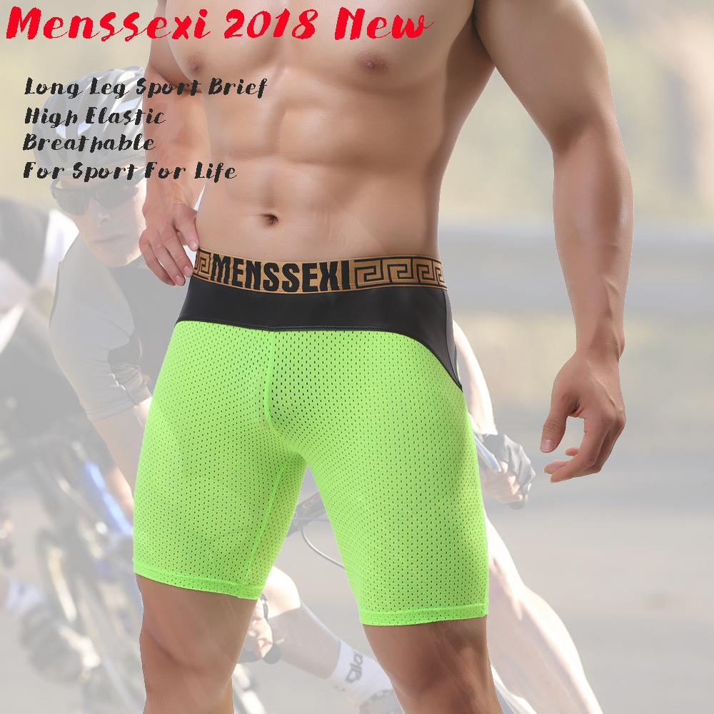 bc19bb5485f9 2019 MENSSEXI 2018 New Brand Mens Sports Long Leg Shorts Underwear Fashion  Sexy Mesh Breathable 887 From Pileilang, $24.8 | DHgate.Com