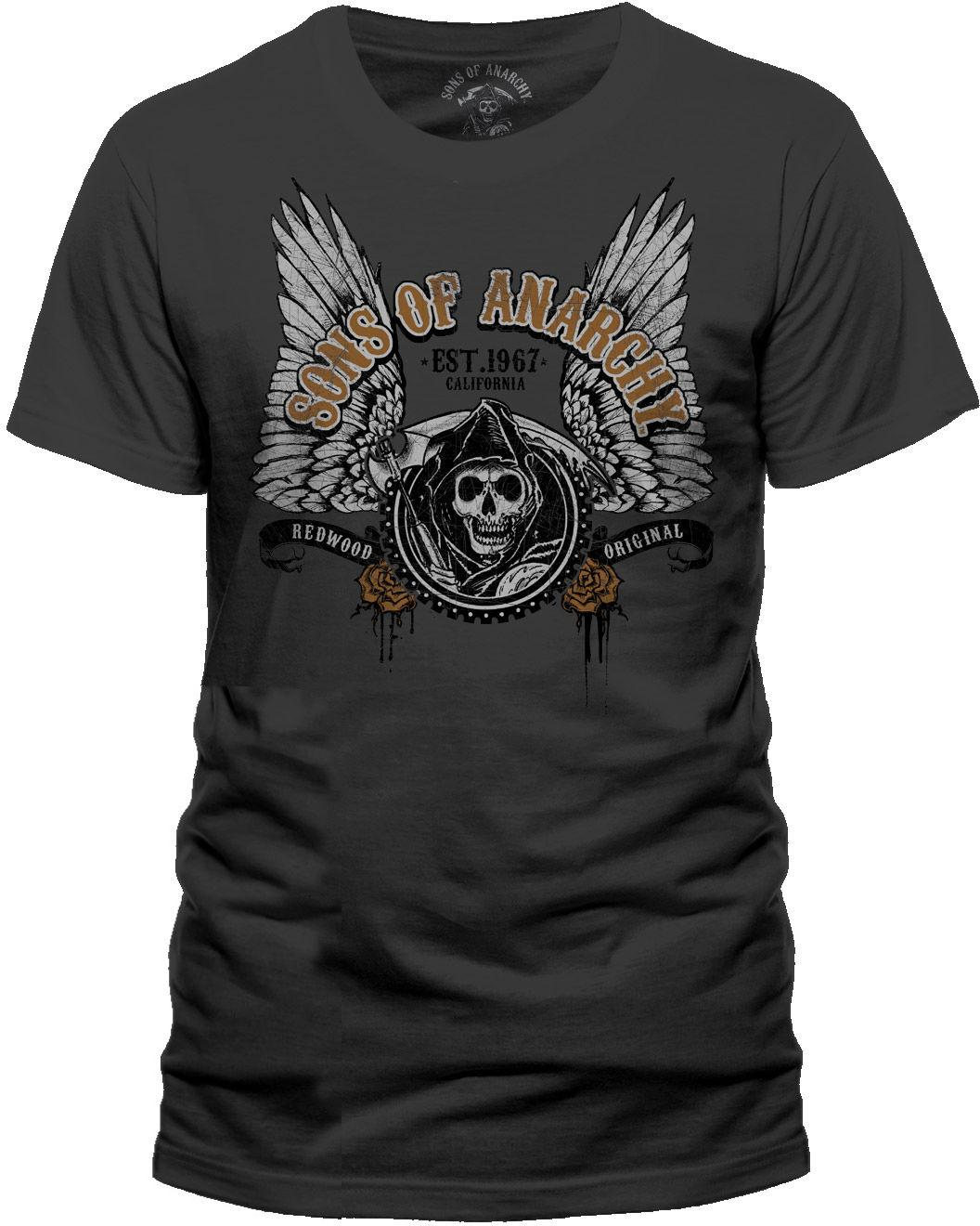 4429691580c7d Sons Of Anarchy - Winged Logo T-Shirt Homme   Man - Taille   Size M CID  Online with  12.99 Piece on Beidhgate07 s Store