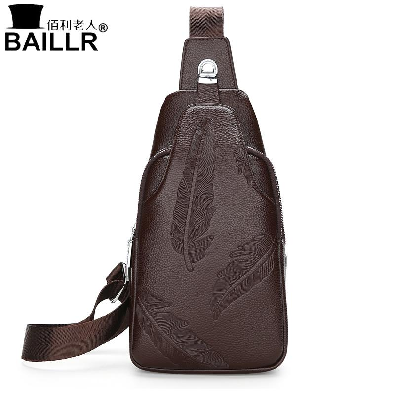 Double zipper Men Single Shoulder Bag Casual High Quality Leather Men's Crossbody Bags New Travel Chest Pack Men Cell Phone Bags