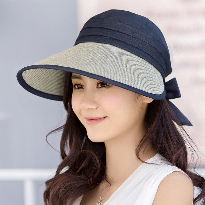 Summer Women Wide Brim Hats Lady Foldable Beach Hats Easy To Carry Girl  Straw Sun Protection Hat Cool Hats Panama Hats From Ever1314 aceb38563a
