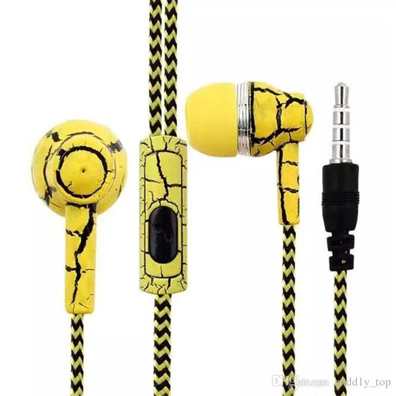 في سماعات الأذن سماعات الأذن سماعات 3.5mm بارد الكراك تصميم سماعة ستيريو سماعات مضفر مع هيئة التصنيع العسكري SF-A16 بالجملة