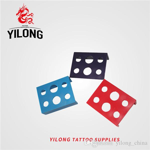 YILONG Holes Plastic Tattoos Ink Cup Holder Professional Ink Cup Holder Pigment Bracket Trailer Supplies Tattoo Tool Random Color