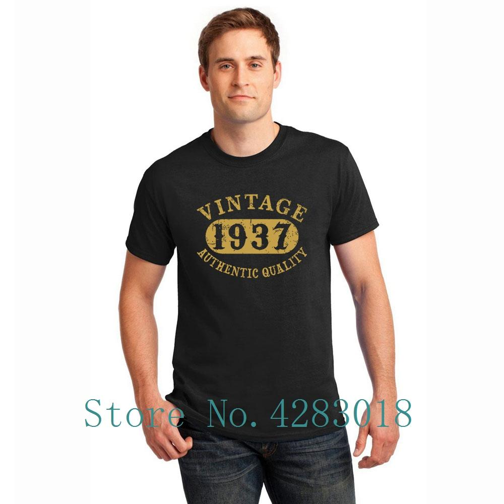 1937 80 Years Old 80th Bday Vintage Birthday T Shirt Man O Neck Knitted Funny Casual Tshirt Solid Color Hombre Cotton Top Tee Shirts Designer