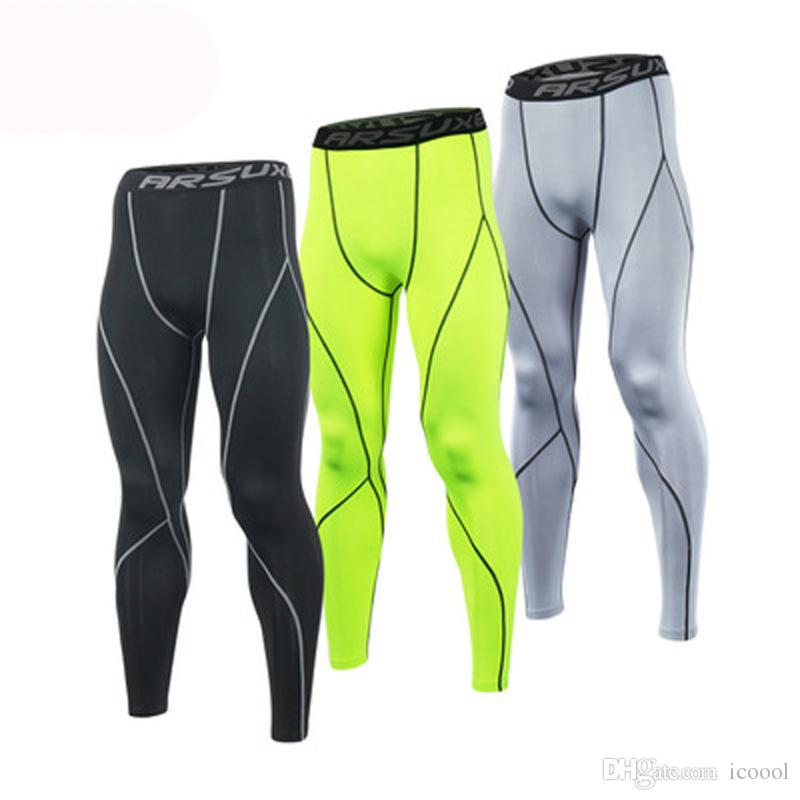 0f66c2c066cf Wholesale Men Sport Compression Tights Base Layer Running Tights Pants Run  Fitness Skinny GYM Workout Active Training Exercise Pants Running Tights  Leggings ...