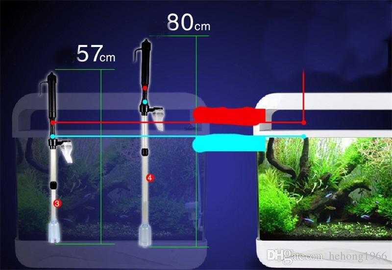 Criativo Auto Bomba de Limpeza Ajustável Siphon Cleaner Filtro de Água Ferramentas Elétrica Tanque de Peixes De Aquário Gravilha A Vácuo Venda Quente 18sy Z