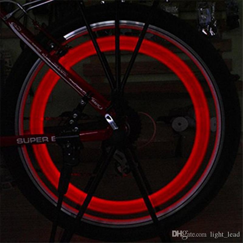 Opération électronique LED Flash Tire Light Vélo Rayons Lampe Vélo Vélo Willow LED Roue De Fil De Roue
