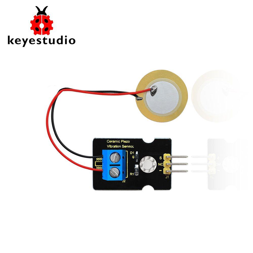 Keyestudio Analog Piezoelectric Ceramic Vibration Sensor Module for Arduino