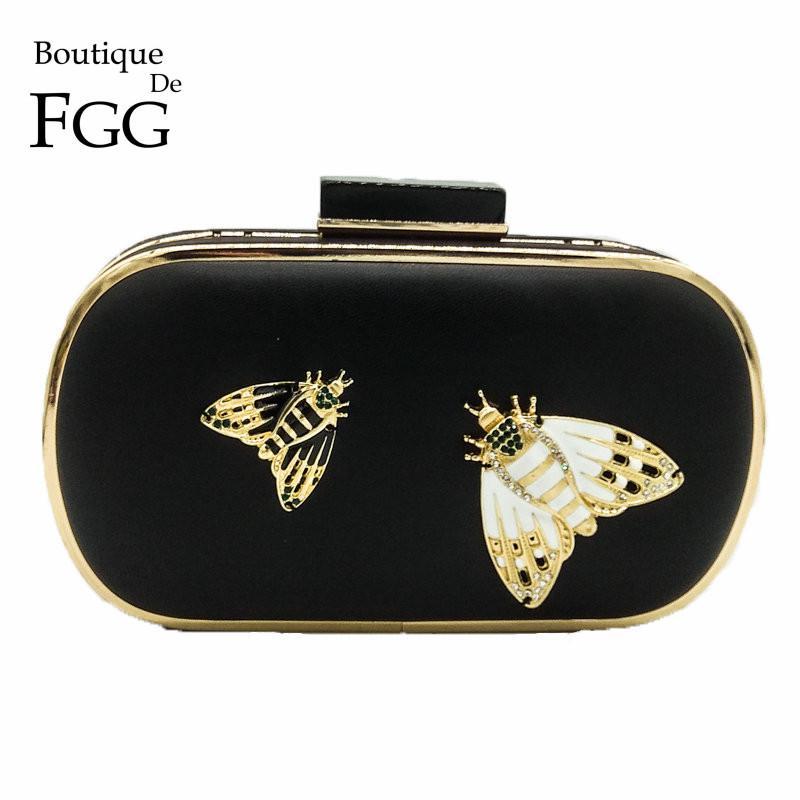 751ffbb3f2 Boutique De FGG Fashion Insect Moth Acrylic Clasp Crystal Women ...