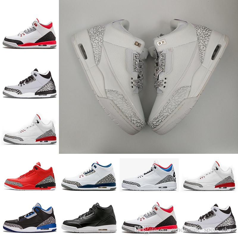 17704cdf484 2019 2018 Cheap New III White Red True Blue White Cement Sport Blue Infrared  23 Wolf Grey Mens Basketball Shoes For Men Sneakers 8 13 From ...