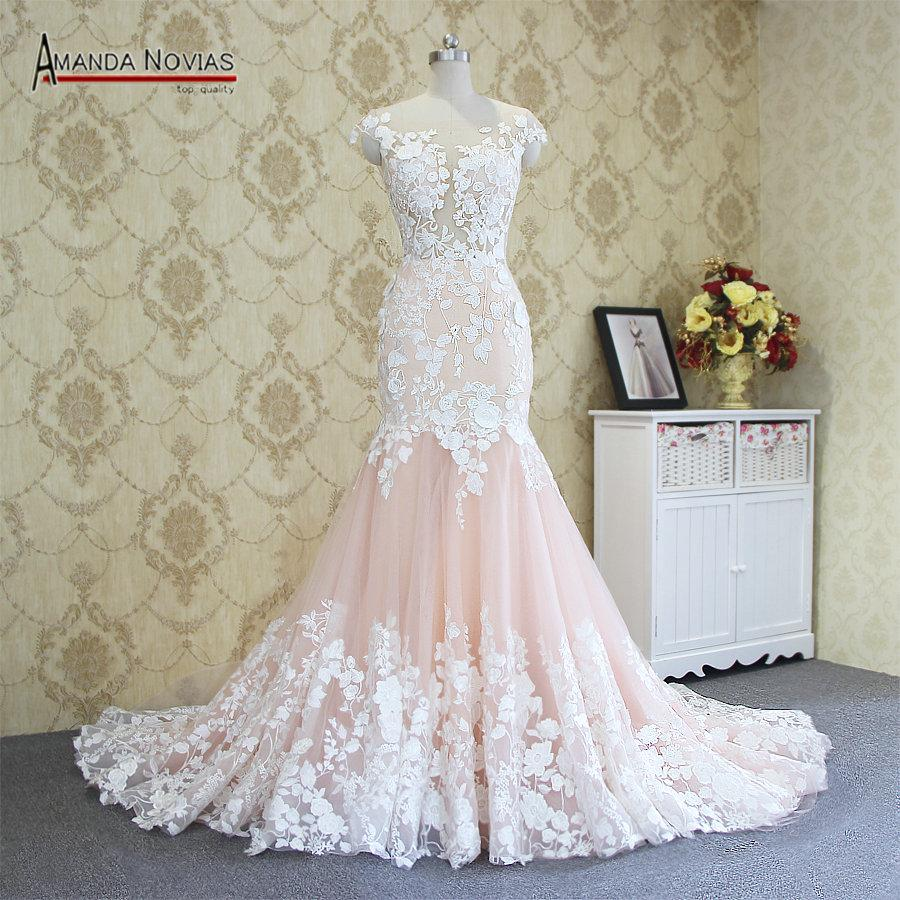 2017 Hot Sale Sexy Mermaid Lace Wedding Dress 100% Real Photos Amanda  Novias Wedding Dress Red Wedding Dresses Sexy Wedding Dress From  Zhanhuawedding d438959bfc12