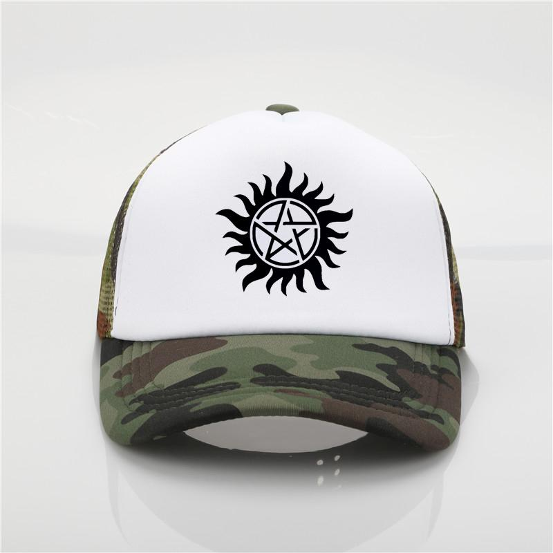 Satın Al Moda Şapka Supernatural Beyzbol Kapaklar Yaz Komik Crossfit  Winchester Kardeşler Kap Kadınlar Mesh Trucker Şapka Unisex Hip Hop Şapka 2988e3278f