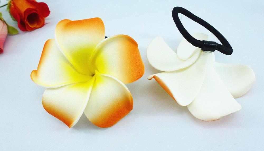 Acheter 20 New Orange Couleur Mousse Hawaiian Plumeria Fleur