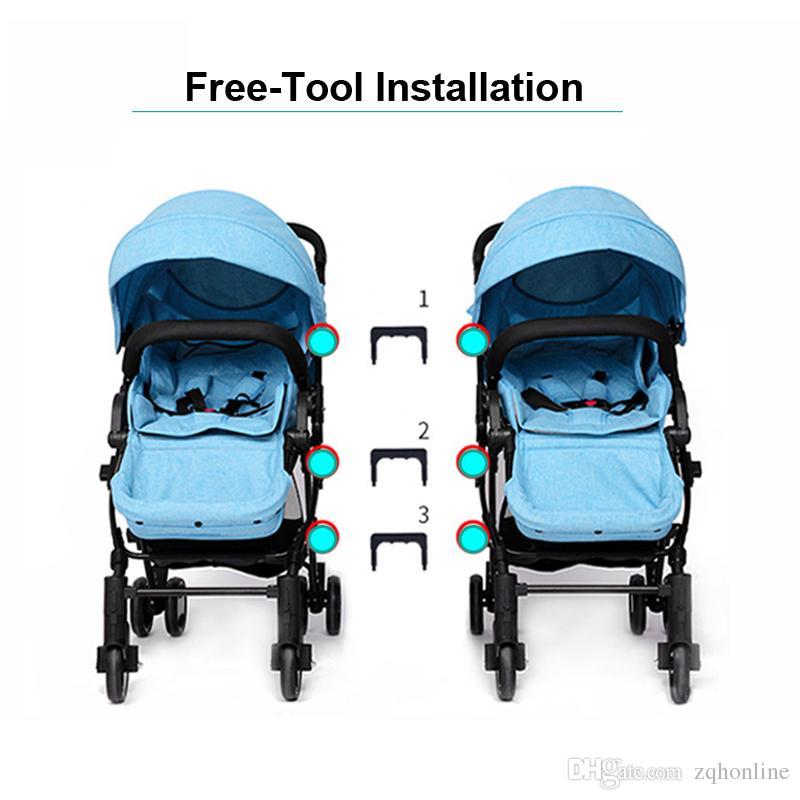 high landscape twins stroller can be split baby stroller for twins double stroller can sit lie portable folding