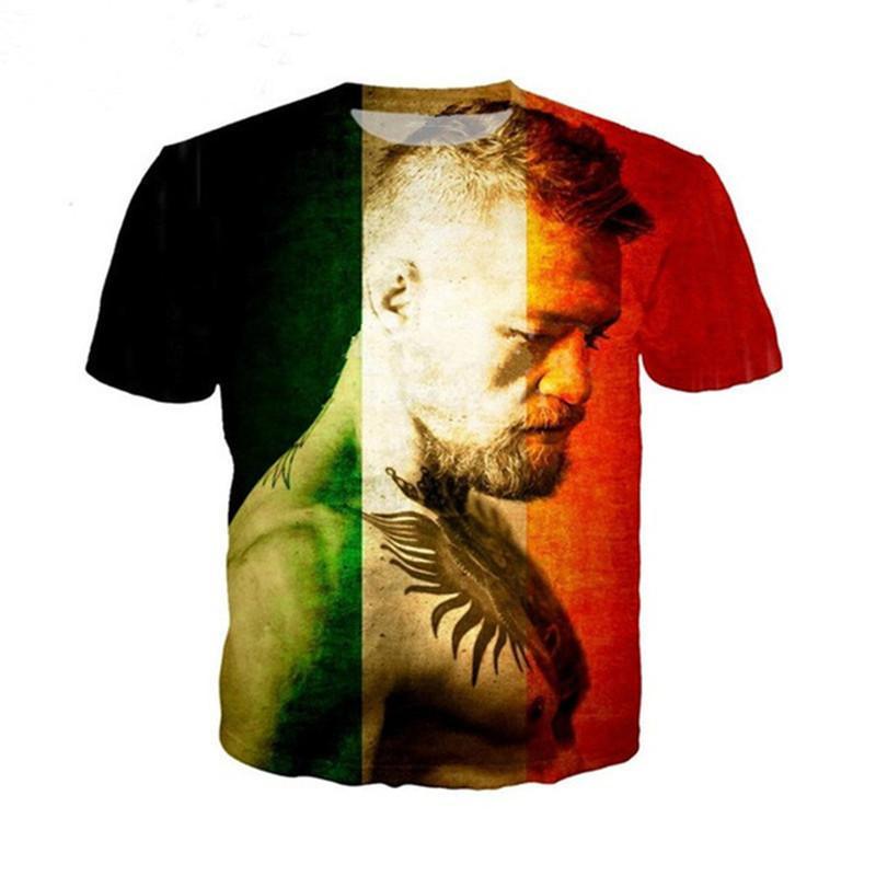 Newest Men Womens 3D Star Conor McGregor Print Short Sleeve Funny T-Shirts  Harajuku Fitness Casual Tops Shirt U1019 Men Women T-shirt Star Conor  McGregor 3D ... 2dcf90a8c93d